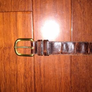 Accessories - Crocodile leather belt